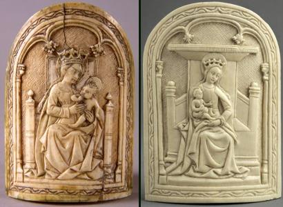 Comparación con el ejemplar del Museo Civico d'Arte Antica de Turín
